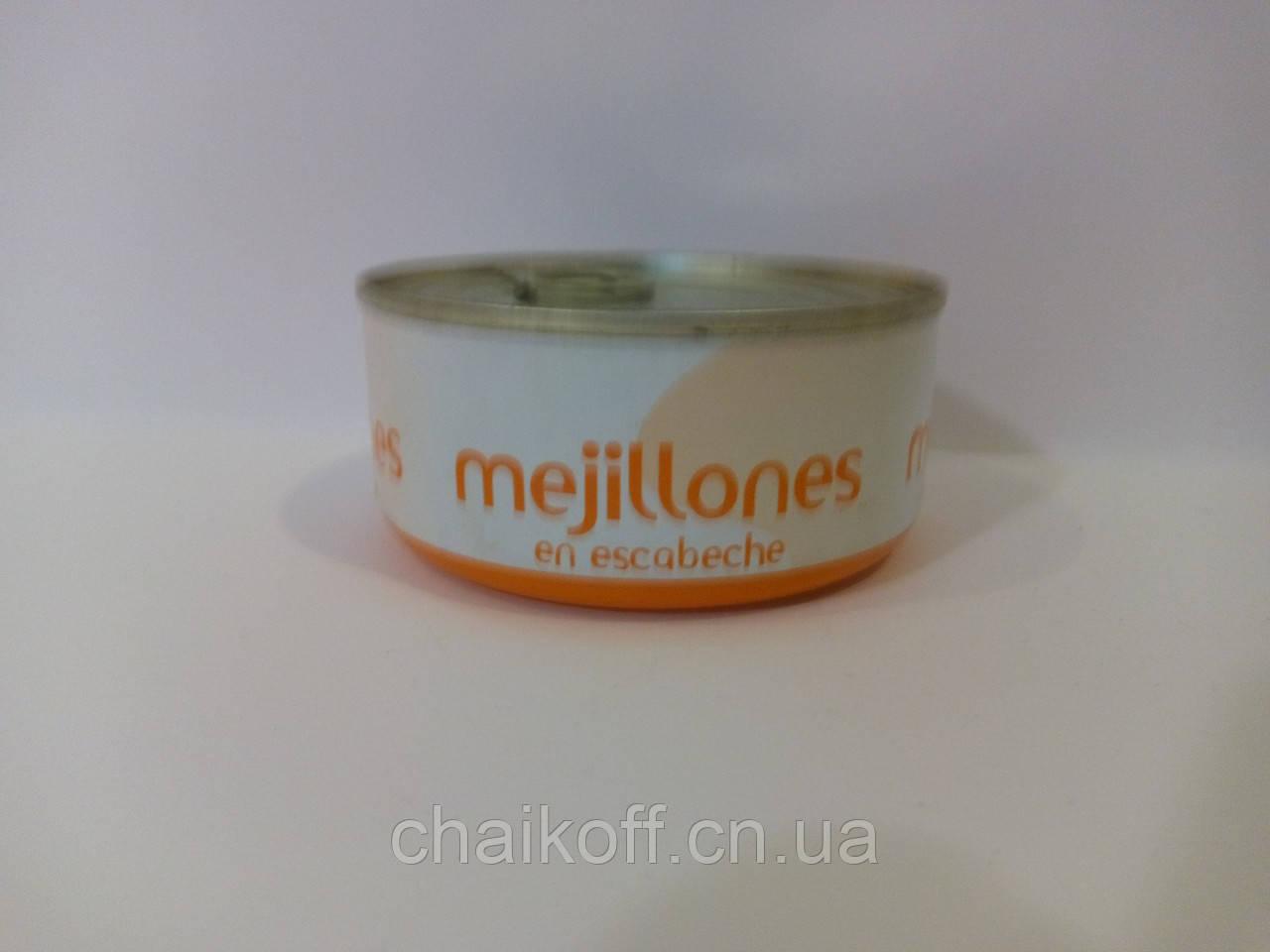 Мідії в олійно-томатному соусі Hacendado Mejillones en escabeche 175g (шт.)
