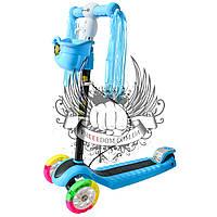 Самокат детский 3-х колёсный BavarSport Perfect Синий