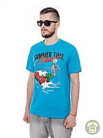 Мужская летняя футболка ( поло , реглан ) Urban Planet - Madness ( синий )