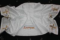 Полотенце именное на крещение