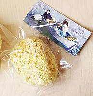 Морская губка Honeycomb для тела, шелковая, 5-5,5 дюйма, Греция, фото 1