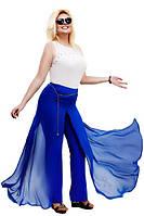 """Элегантная женская юбка-брюки в больших размерах 007 """"Трикотаж Шифон Цепочка"""" в расцветках"""