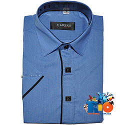 Детская рубашка с коротким рукавом арт.104 , для мальчика (р-р 29-36)