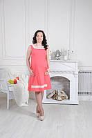 Платье для беременных бенгалин с ажурными вставками