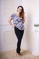 Рубашка для беременных с коротким рукавом