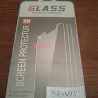 Закаленное защитное стекло для Bravis A401 Neo (0.3 мм, 2.5D, с олеофобным покрытием)