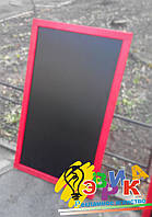 Меловые доски-меню в красной раме (доски для письма мелом) 110Х70 см