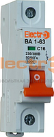 Автоматический выключатель ВА 1-63 6кА 63A 1P C Electro