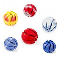Игрушка для собак мяч спиральный резиновый ваниль 2 5см