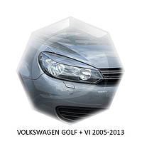 Реснички на фары Volkswagen GOLF + VI 2005-2013 г.в. ABS пластик