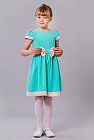 Нарядное симпатичное детское платье с бантиком