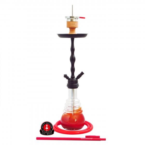 Кальян Amy DeLuxe 630 D Click черная шахта, красная колба