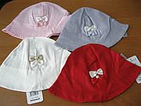 Детские летние шапочки-панамочки для девочки 3-9 мес хлопок Турция