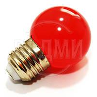 Светодиодная лампа декор LM705 558406, G45, Е27, 1.2 Вт, АС 220 В, цвет красный, Lemanso
