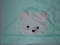 """Полотенце для купания ребенка """"Мишка"""" с капюшоном"""