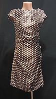 Платье атласное в горошек, 42 размер, 140\110