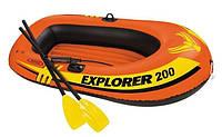 Лодка надувная двухместная Explorer 200 Set, Intex 58357NP