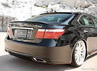 Накладка на задний бампер Lexus LS 460, Лексус ЛС 460