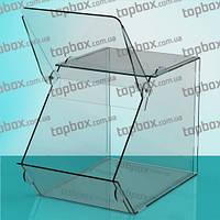 Акриловая коробка для продуктов 150x150x250 мм, объем 5,1 л.