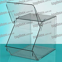 Прозрачная коробка для пищевых продуктов 150x150x200 мм, объем 4,1 л.