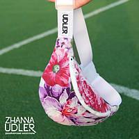 Поясная сумка фиолетово-лиловые цветы