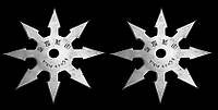 Сюрикен -BF008 метательная звезда+ чехол на ремень, фото 1
