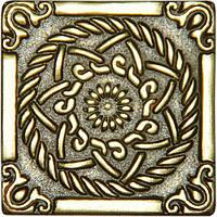 Декоративная вставка из бронзы Sun (5x5)