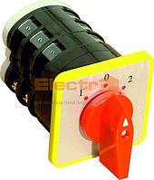 Переключатель кулачковый ПКП 3P 16А 1-0-2 380В аварийный Electro