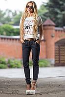 Эффектные стильные брюки из легкой ткани