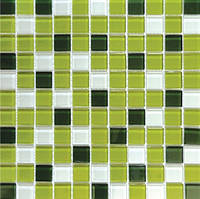 Зеленая мозаика из стекла Progres Mix C012