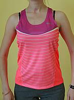 Майка женская Saucony (81278) кораллово-фиолетовая код 175Д