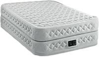 Надувная велюр кровать Intex 191х99х51 см со встроенным насосом
