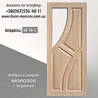 """Межкомнатные двери """"Диагональ"""" под стекло из массива сосны от производителя"""