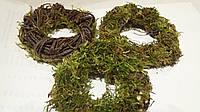Венок из мха и березовых прутьев ( d=8-12 см) (20\16) (цена за 1 шт. + 4 гр.)