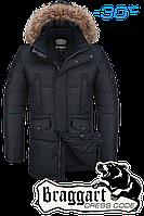 Куртка зимняя мужская удлиненная Braggart Dress Code - 1005C черная