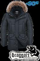 Куртка зимняя мужская удлиненная Braggart Dress Code - 1005B графит