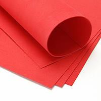 Фоамиран Томатный красный 50х50 см, 1 мм Китай, фото 1