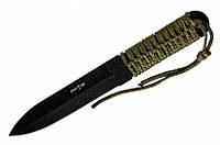 Метательный нож 20 GRY: 57-58 HRC, Powder Coating, ширина лезвия 30 мм, 250 мм, 175 г, шнурок, чехол