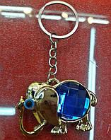 Брелок на ключи слон с камнем
