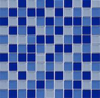 Голубая стеклянная мозаика Vivacer MixC011
