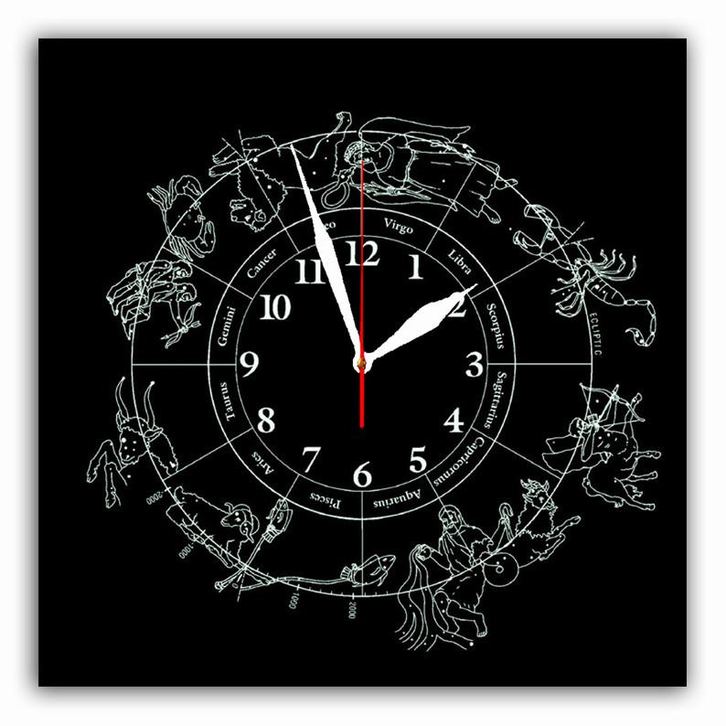 """Часы настенные  """"Зодиак""""  стеклянные"""
