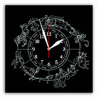 """Часы настенные  """"Зодиак""""  стеклянные , фото 1"""
