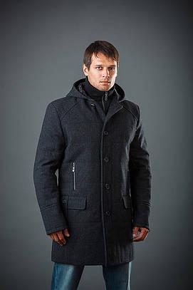 Пальто c капюшоном мужское из кашемира Ян джинс