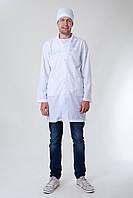 Мужской медицинский белый халат р-ры 42-48