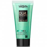 Loreal Dual Stylers Liss and Pump Крем-гель для укладки волос с эффектом объема, 150 мл