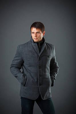 Пальто мужское из кашемира Мон серый