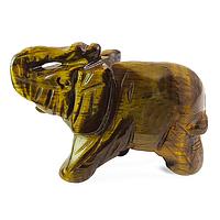 Тигровый глаз, слоник статуэтка