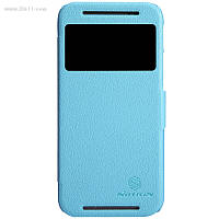 Чехол Nillkin Fresh Series Leather Case для HTC ONE M8 light blue
