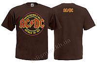 Футболка AC DC - Australia 1973 - коричневая