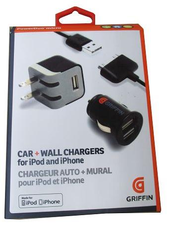 Комплект зарядных для  iPad iPhone GRIFFIN 3в1